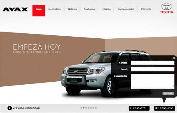 Diseño Web para Ayax Toyota