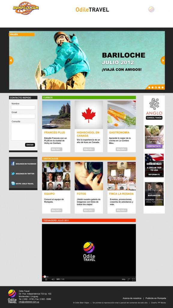 Diseño de portal de viajes especializado en teens