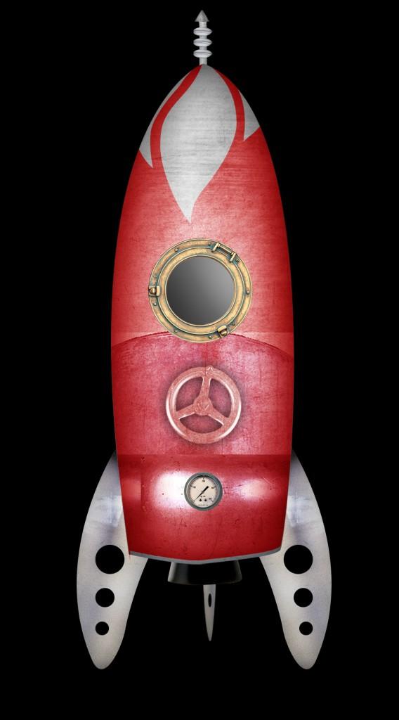 diseño de cohete para animación