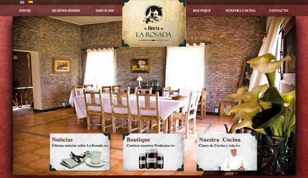Diseño web chacra de eventos La Rosada