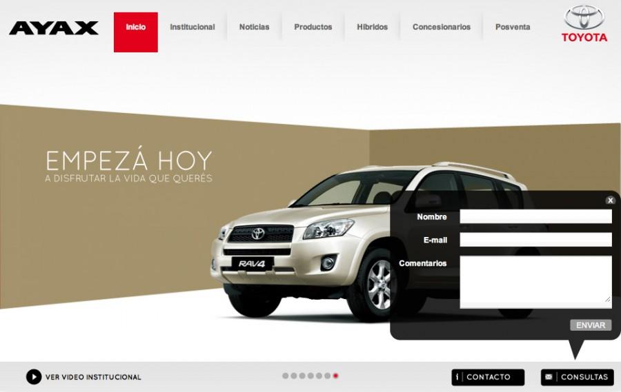 (Español) diseño web toyota contacto