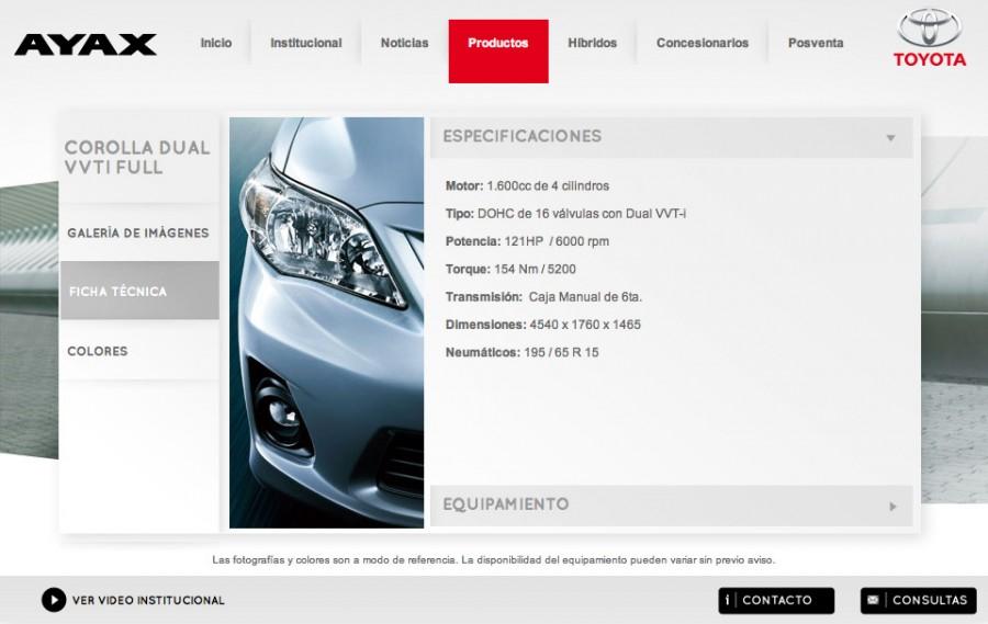 (Español) especificaciones de automoviles toyota