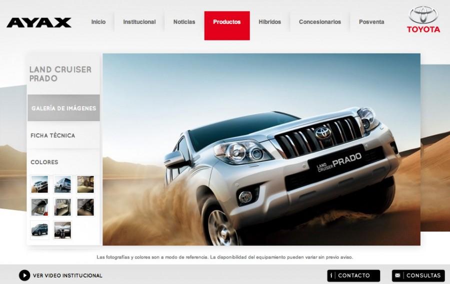 diseño web toyota uruguay