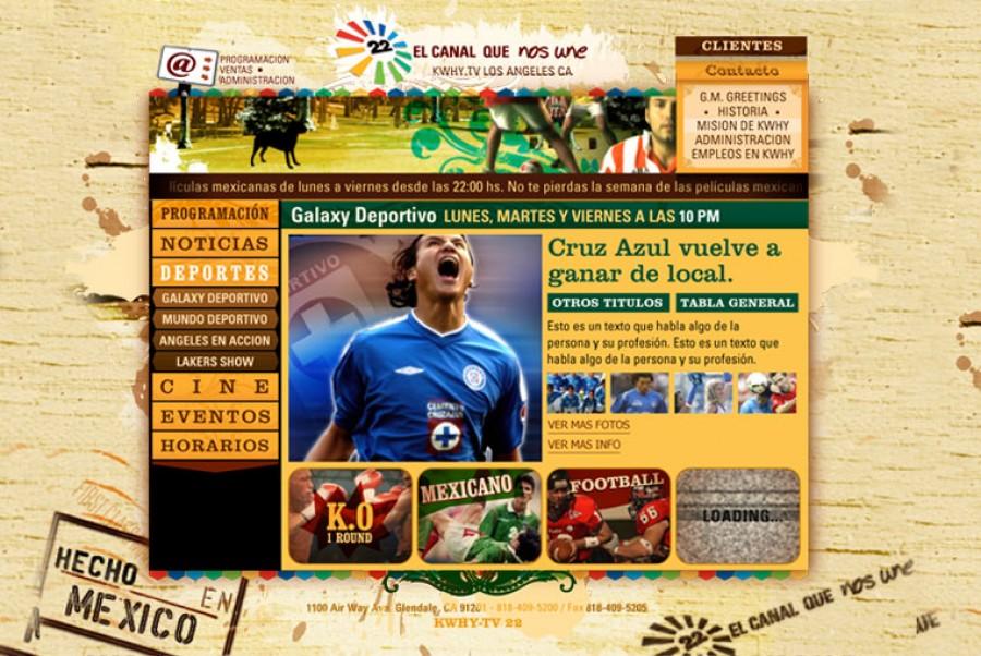 Pagina principal de deportes
