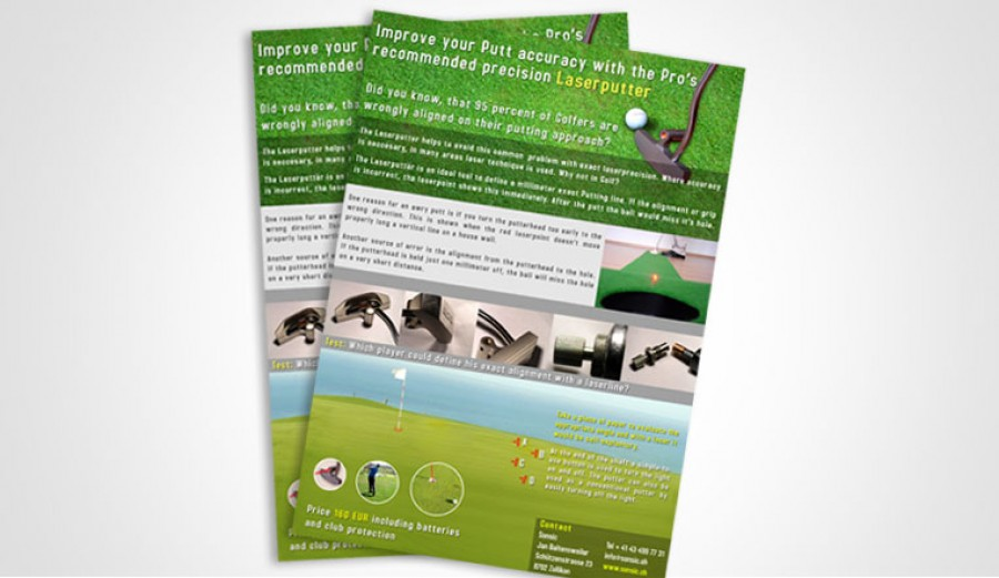 Golf flyer presentation for web
