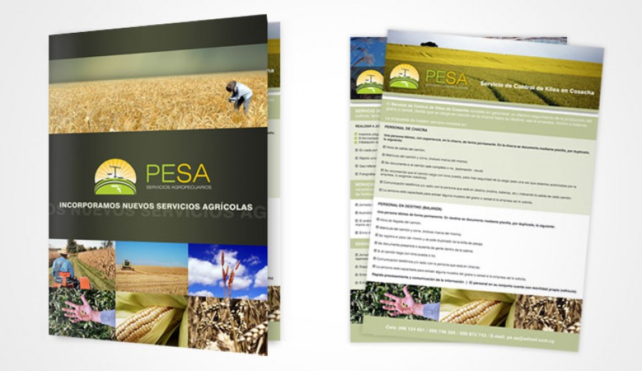 Flyer and folder design for Agro