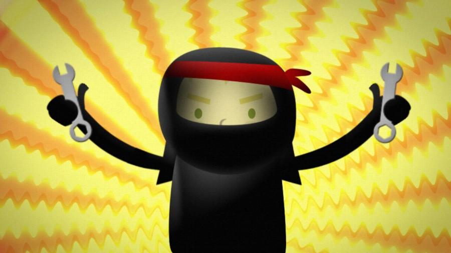 animación de ninjas