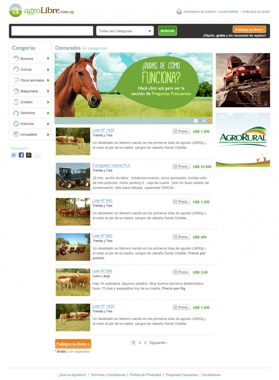 demo homepage