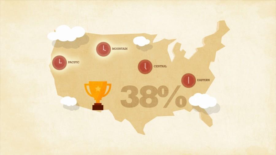 Animated map of USA