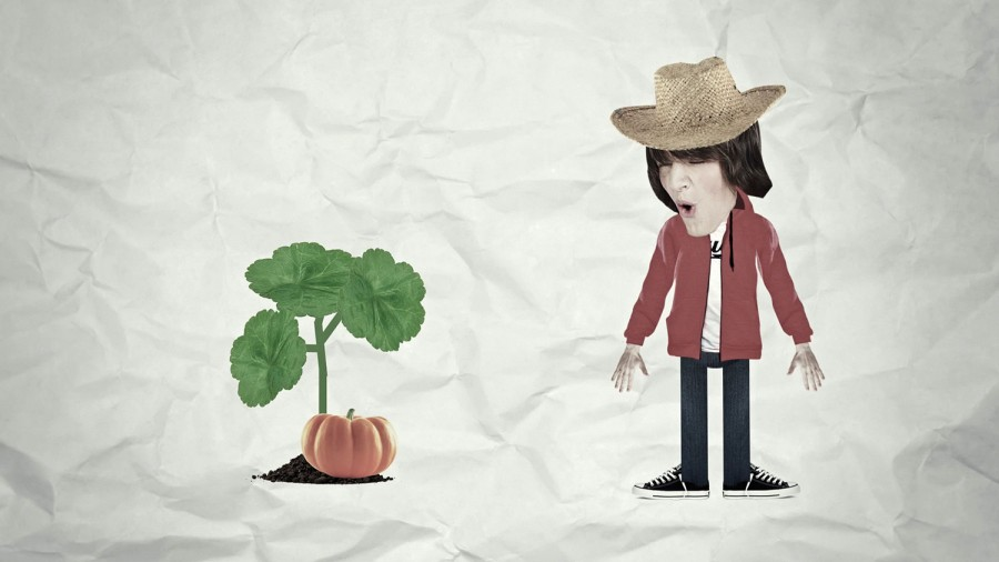 cultivo de verduras animadas