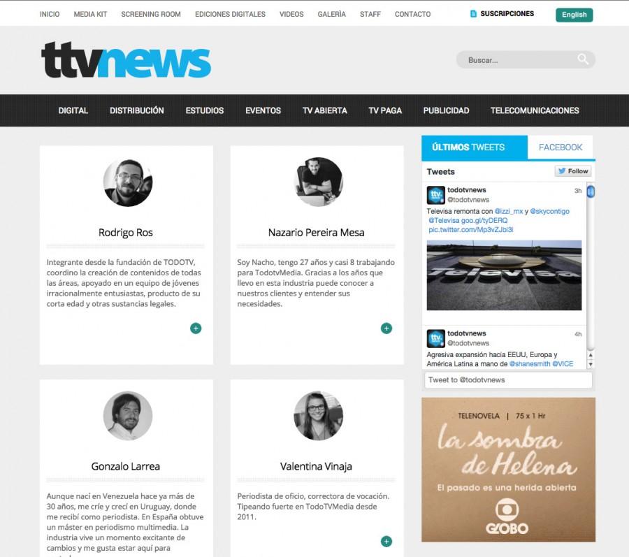 pagina con bio de periodistas