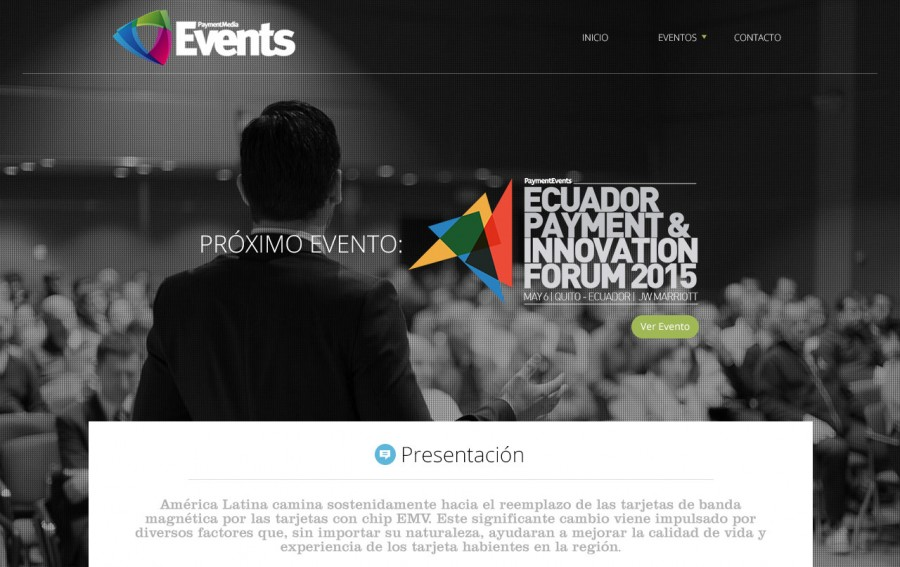 diseño web payment media events