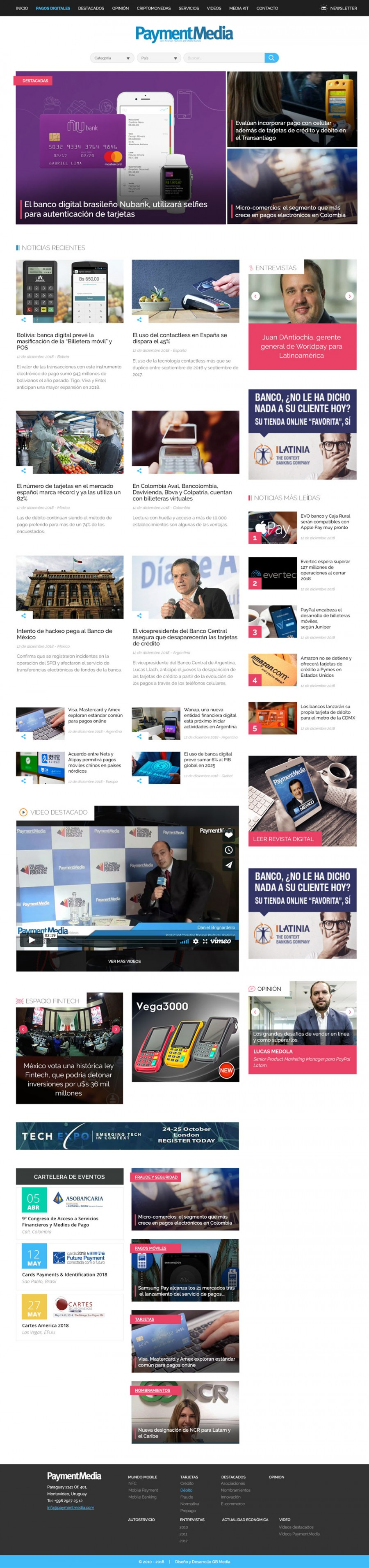 news portal design and development uruguay