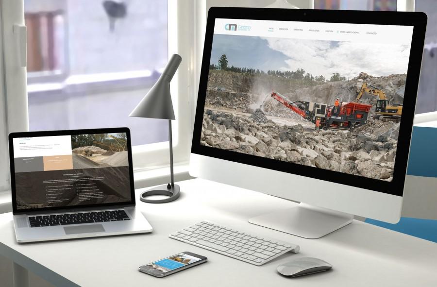 diseño de sitio web para canteras uruguay