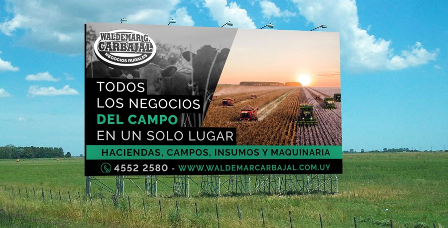 diseño publicidad carretera uruguay