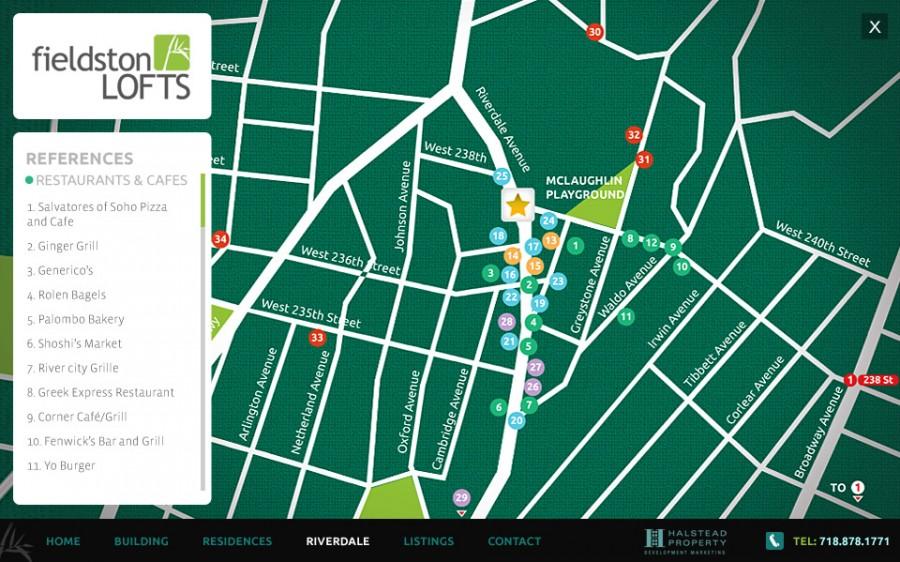indicaciones en mapa brooklyn