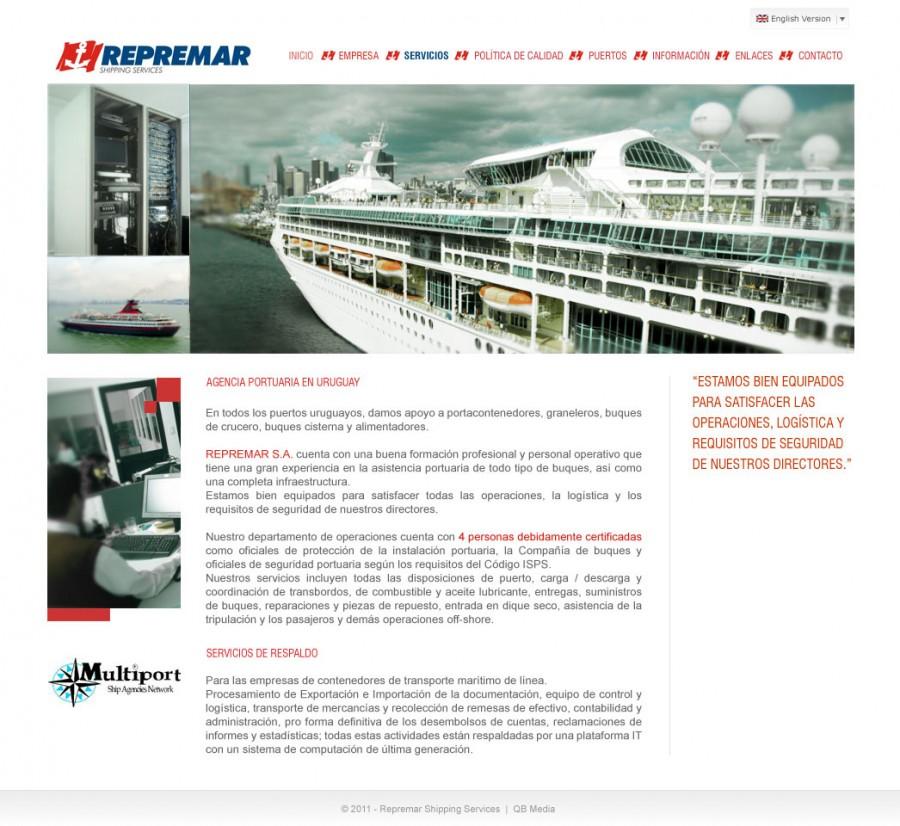 página web para empresa de logistica