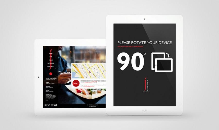 diseño web ipad