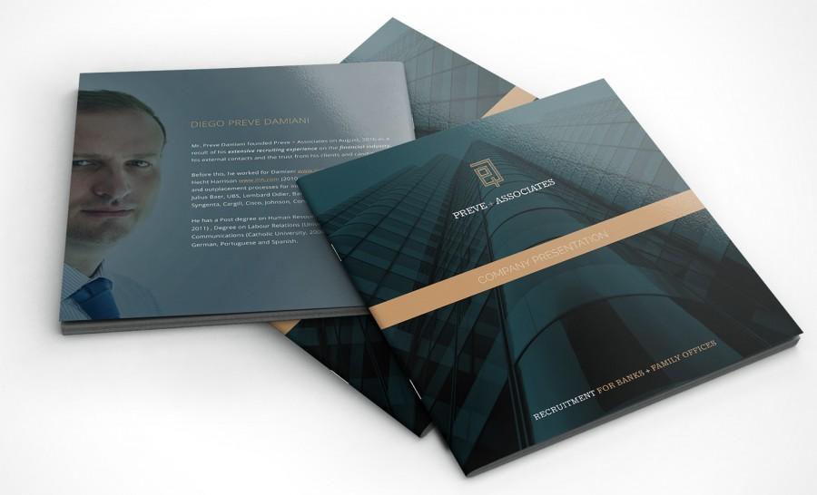 diseño de brochure para empresa financiera