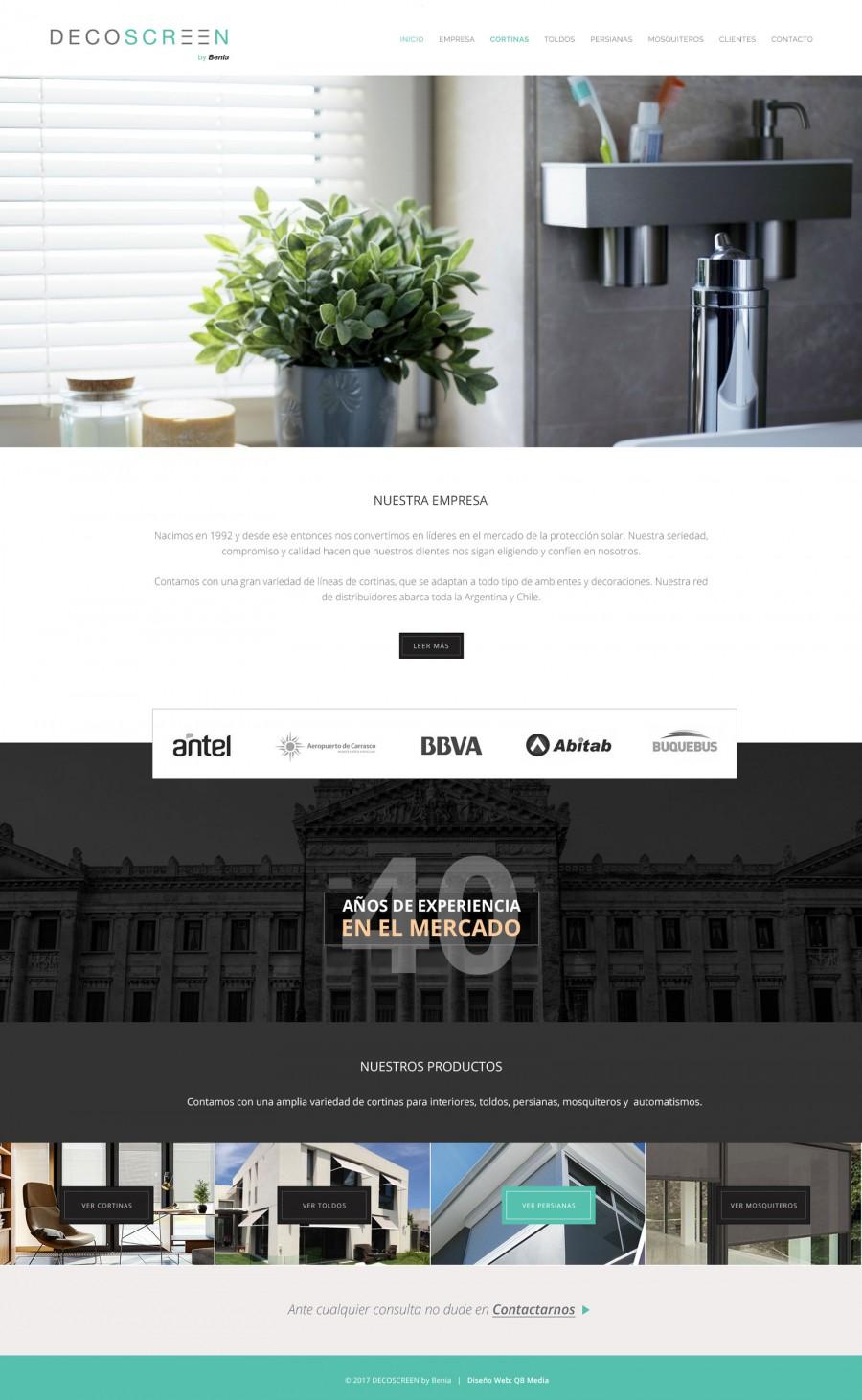 diseño web cortinas y decoración