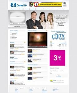 canal 10 uruguay diseño web