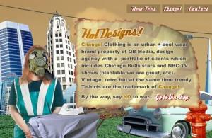 change clothing website design