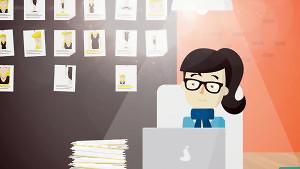video trabajando en oficina