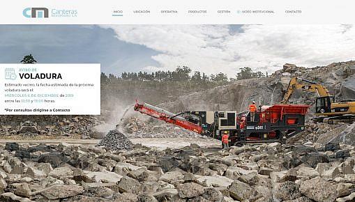 diseño web cantera de piedra
