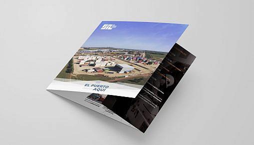diseño brochure logistica y contenedores